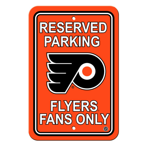 Philadelphia Flyers Sign - Plastic - Reserved Parking - 12 in x 18 in - Special Order