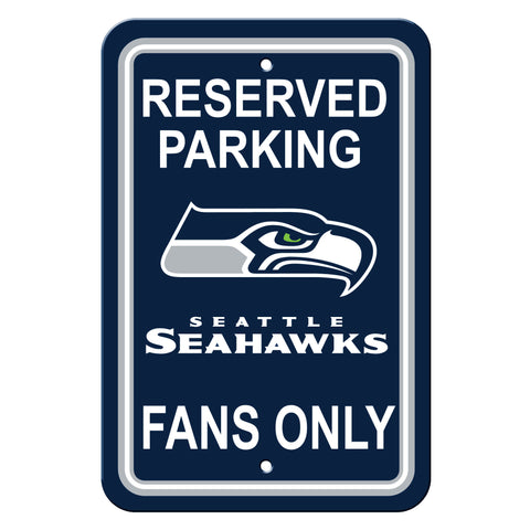 Seattle Seahawks Sign - Plastic - Reserved Parking - 12 in x 18 in