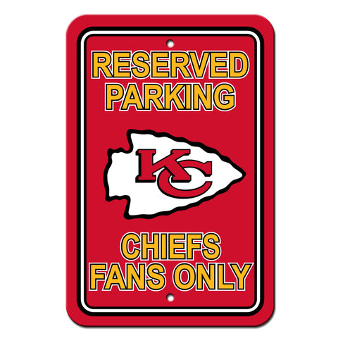 Kansas City Chiefs Sign 12x18 Plastic Reserved Parking Style