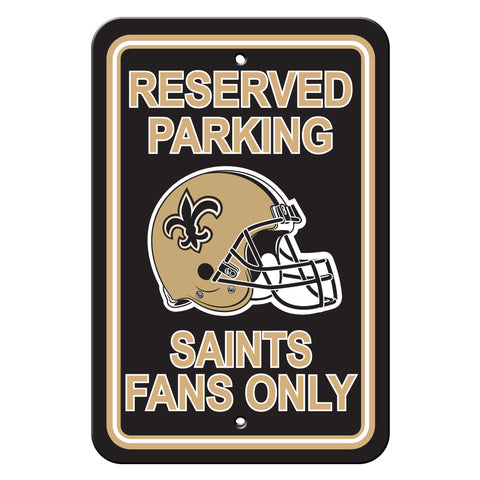 New Orleans Saints Sign - Plastic - Reserved Parking - 12 in x 18 in