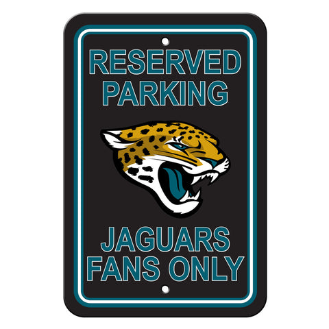 Jacksonville Jaguars Sign - Plastic - Reserved Parking - 12 in x 18 in - Special Order