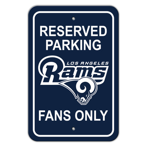 Los Angeles Rams Sign 12x18 Plastic Reserved Parking Style - Special Order
