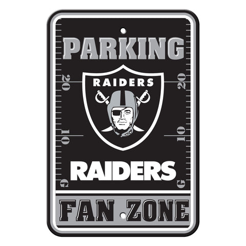 Las Vegas Raiders Sign - Plastic - Fan Zone Parking - 12 in x 18 in