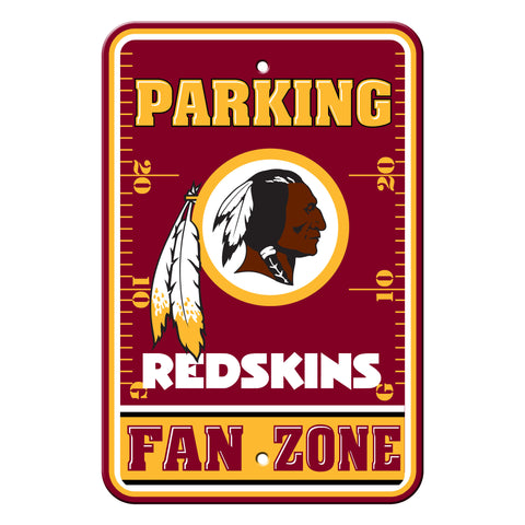 Washington Redskins Sign - Plastic - Fan Zone Parking - 12 in x 18 in - Special Order