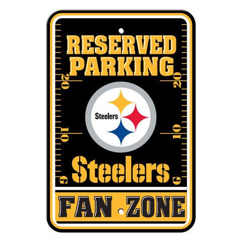 Pittsburgh Steelers Sign - Plastic - Fan Zone Parking - 12 in x 18 in