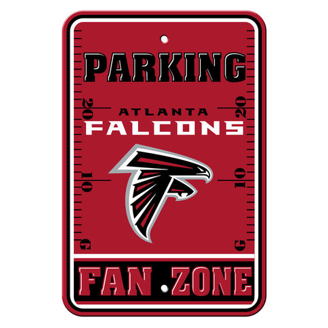 Atlanta Falcons Sign - Plastic - Fan Zone Parking - 12 in x 18 in