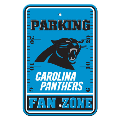 Carolina Panthers Sign 12x18 Plastic Fan Zone Parking Style