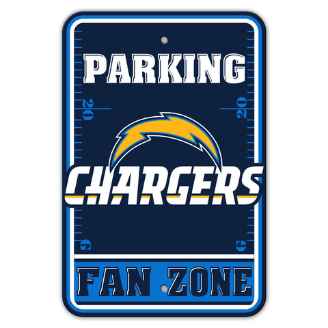 Los Angeles Chargers Sign 12x18 Plastic Fan Zone Parking Style - Special Order