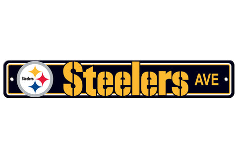 Pittsburgh Steelers Sign 4x24 Plastic Street Style