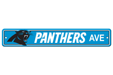 Carolina Panthers Sign 4x24 Plastic Street Style - Special Order