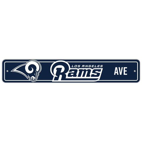 Los Angeles Rams Sign 4x24 Plastic Street Style - Special Order