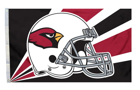 Arizona Cardinals Flag 3x5 Helmet Design