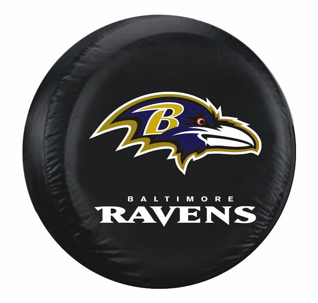 Baltimore Ravens Tire Cover Large Size Black