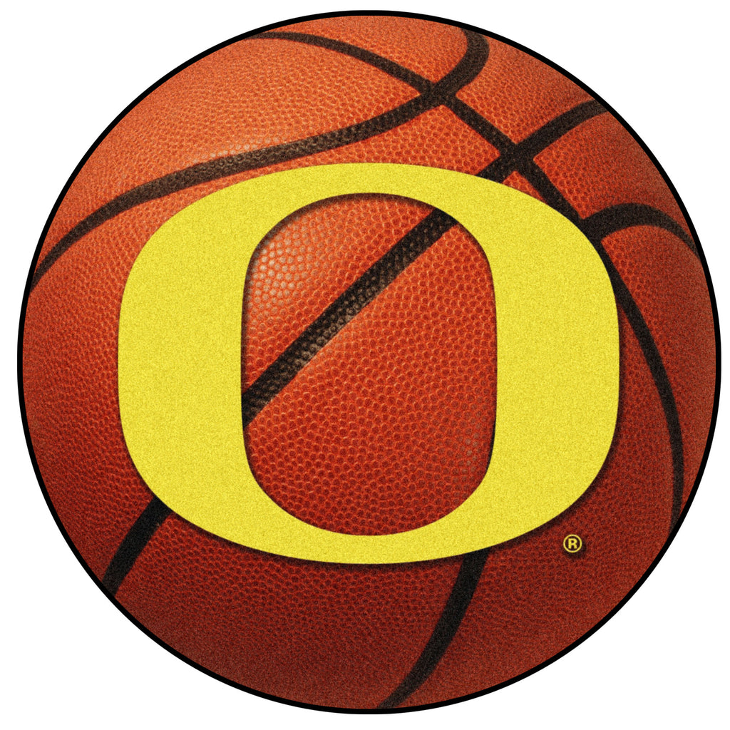 "University of Oregon Basketball Mat 27"" diameter"""