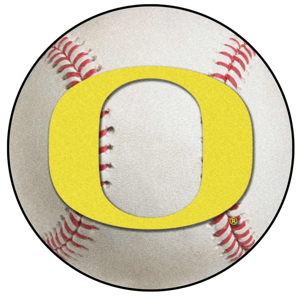 "University of Oregon Baseball Mat 27"" diameter"""