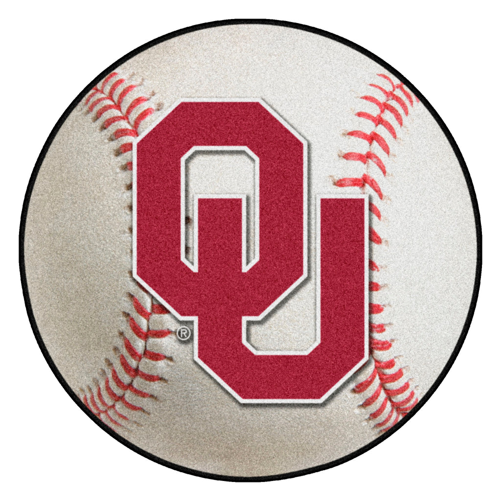 "University of Oklahoma Baseball Mat 27"" diameter"