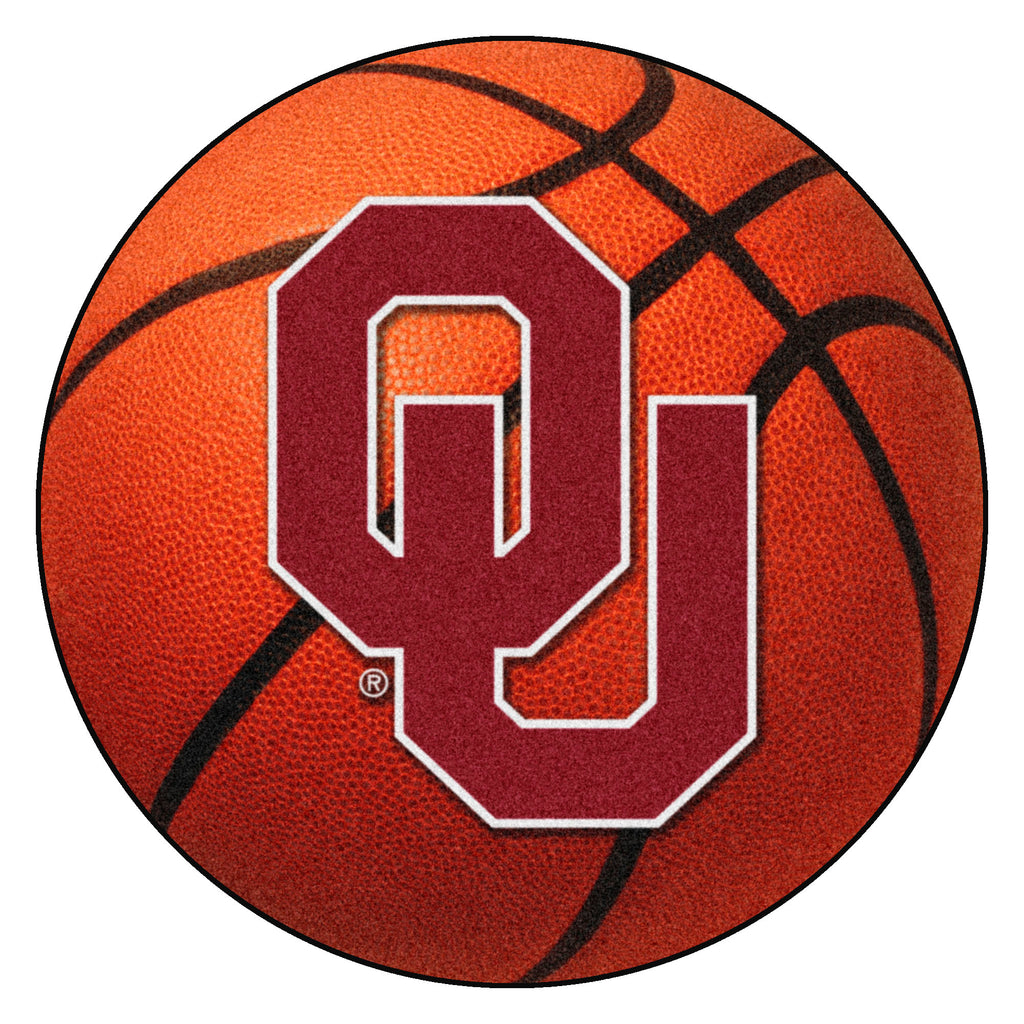 "University of Oklahoma Basketball Mat 27"" diameter"