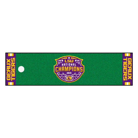 "LSU 2019-20 National Champions Putting Green Mat 18""x72"""