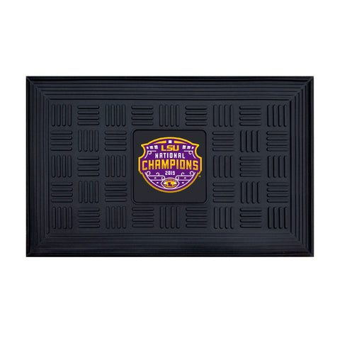 "LSU 2019-20 National Champions Medallion Door Mat 19.5""x31.25"""