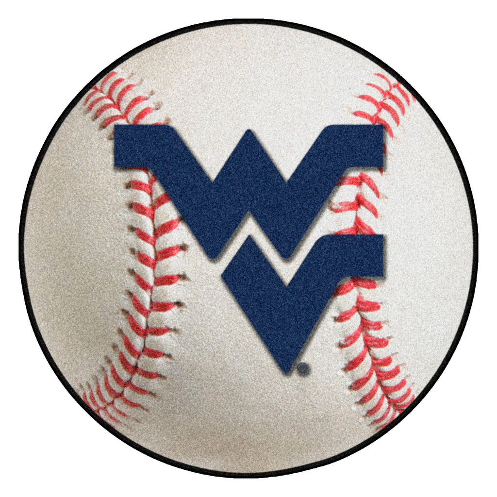 "West Virginia University Baseball Mat 27"" diameter"