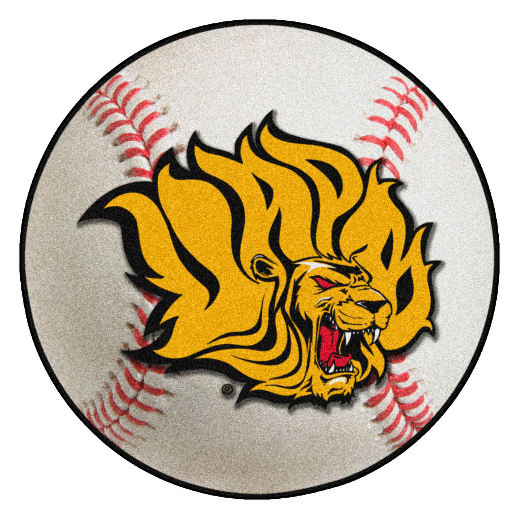 "University of Arkansas at Pine Bluff Baseball Mat 27"" diameter"