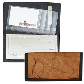 Greg Biffle Leather/Nylon Embossed Checkbook Cover