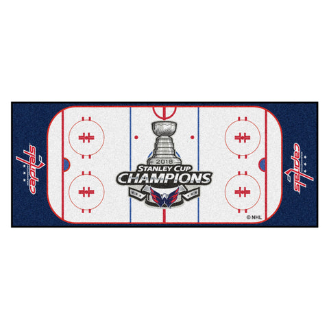 "NHL - Washington Capitals 2018 Stanley Cup Champions Rink Runner 30""x72"""