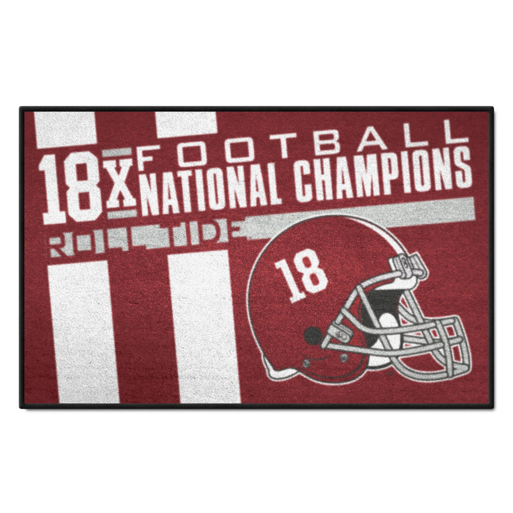 "University of Alabama Dynasty Starter Mat 19""x30"""