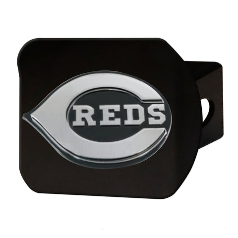 "MLB - Cincinnati Reds Hitch Cover - Black 3.4""x4"""