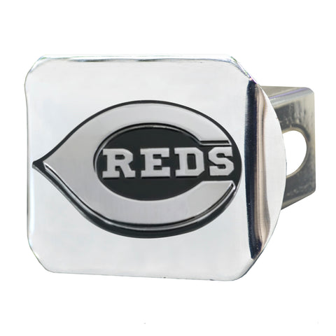 "MLB - Cincinnati Reds Hitch Cover - Chrome 3.4""x4"""