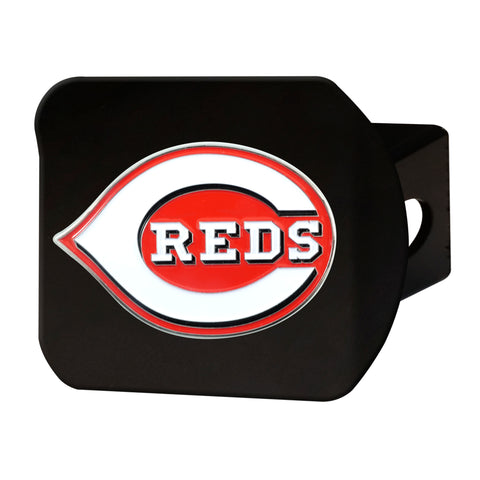 "MLB - Cincinnati Reds Color Hitch - Black 3.4""x4"""