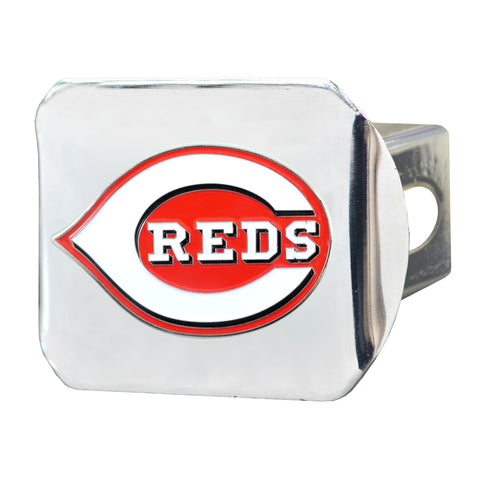 "MLB - Cincinnati Reds Color Hitch - Chrome 3.4""x4"""