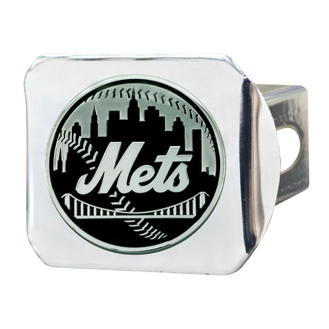 "MLB - New York Mets Hitch Cover - Chrome 3.4""x4"""