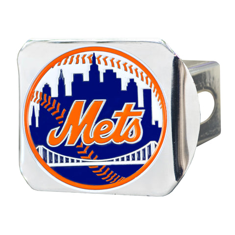 "MLB - New York Mets Color Hitch - Chrome 3.4""x4"""