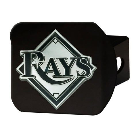"MLB - Tampa Bay Rays Hitch Cover - Black 3.4""x4"""