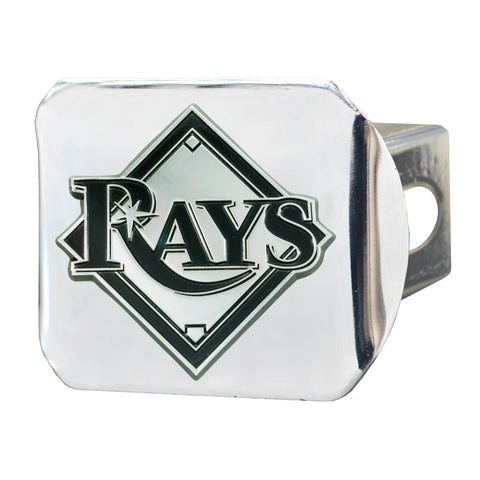 "MLB - Tampa Bay Rays Hitch Cover - Chrome 3.4""x4"""