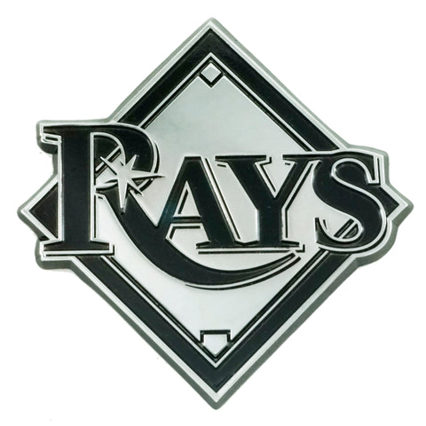 "MLB - Tampa Bay Rays Chrome Emblem 3""x3.2"""