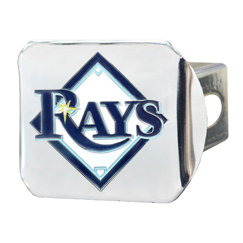 "MLB - Tampa Bay Rays Color Hitch - Chrome 3.4""x4"""
