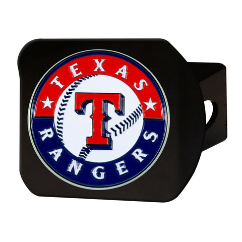 "MLB - Texas Rangers Color Hitch - Black 3.4""x4"""
