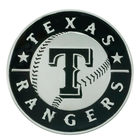 "MLB - Texas Rangers Chrome Emblem 3""x3.2"""
