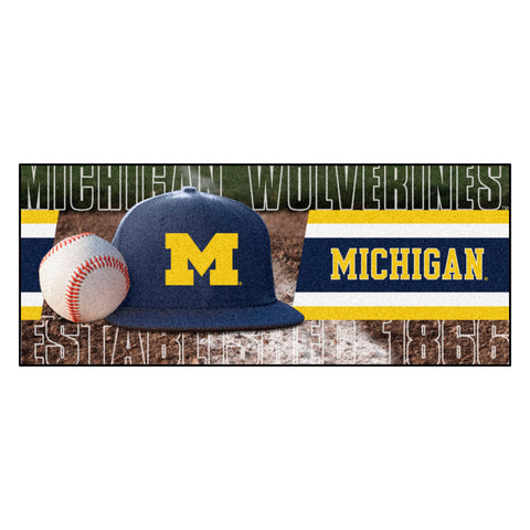 "Michigan Baseball Runner 30""x72"""