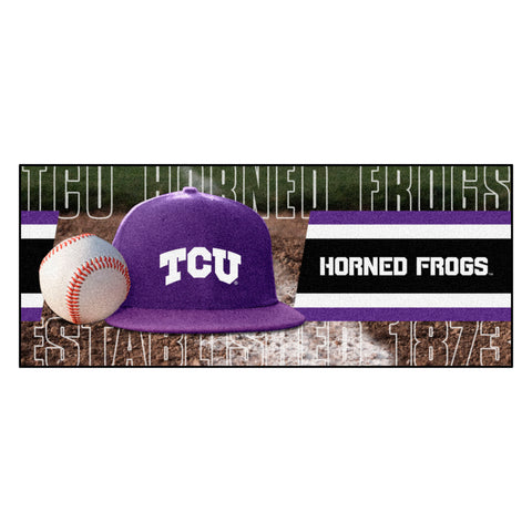 "TCU Baseball Runner 30""x72"""