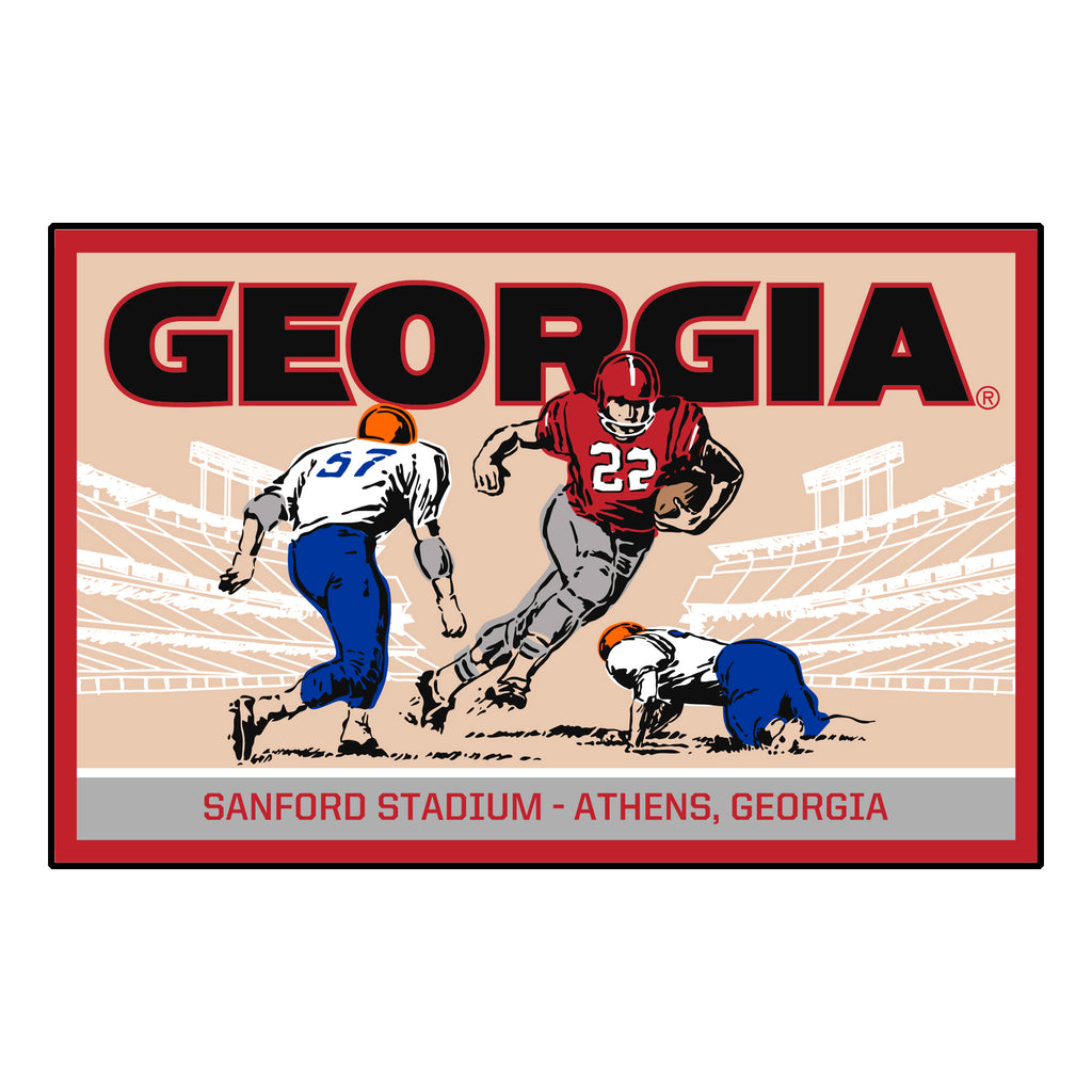 "University of Georgia Starter Mat - Ticket 19""x30"""