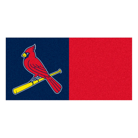 "MLB - St. Louis Cardinals Team Carpet Tiles 18""x18"" tiles"
