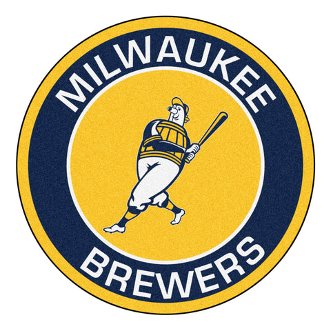 "MLB - Milwaukee Brewers Roundel Mat 27"" diameter"