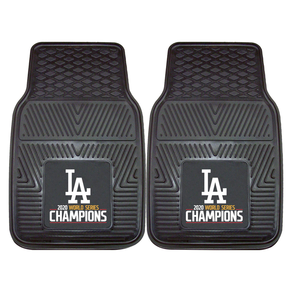 Los Angeles Dodgers 2020 MLB World Series Champions 2-pc Vinyl Car Mat Set
