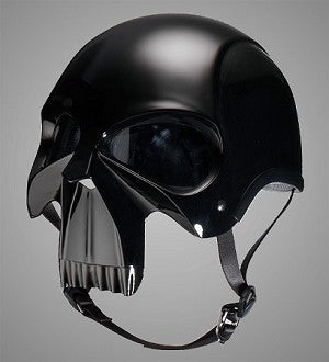 DOT Gloss Skull Motorcycle Helmet