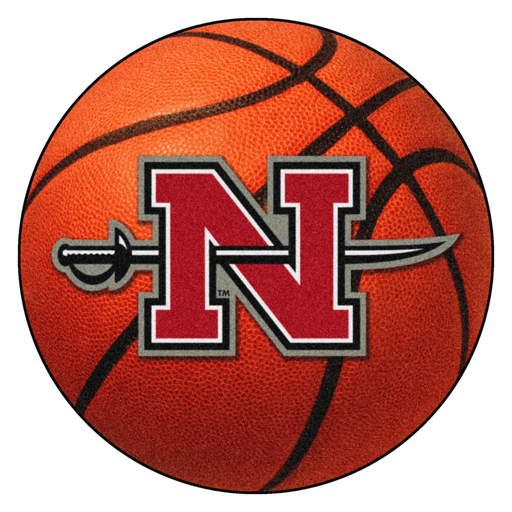 "Nicholls State University Basketball Mat 27"" diameter"