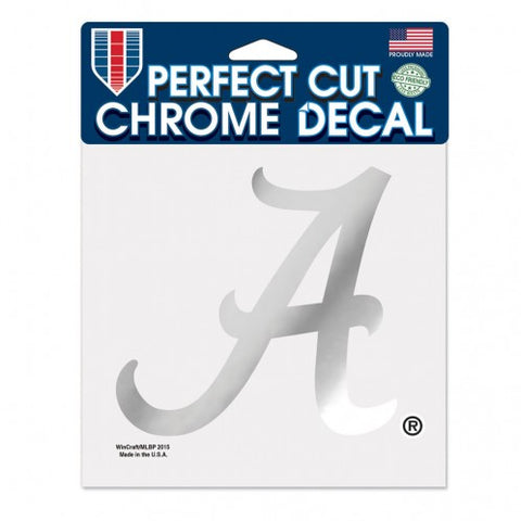 Alabama Crimson Tide Decal 6x6 Perfect Cut Chrome