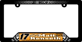 Matt Kenseth License Plate Frame Special Order